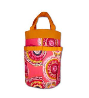 della Q Cleo Yarn Caddy (Style 330-1) - Tequila Sunrise