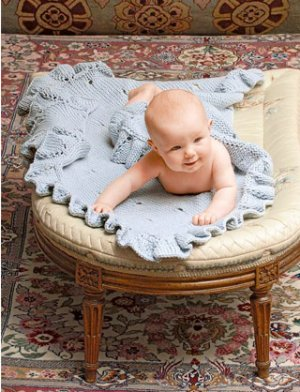 Blue Sky Fibers Baby & Children Patterns - Eyelet Baby Blanket Pattern