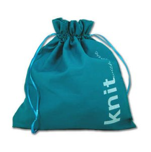 della Q Edict Cotton Pouch (Style 118-2) - Knit With Love - Aquamarine