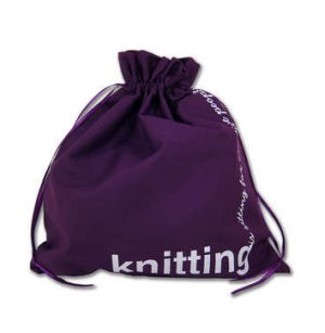 della Q Edict Cotton Pouch (Style 118-2) - Knitting is Sitting For Creative People - Purple