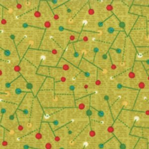 Jenn Ski Mod Century Fabric - Constellation - Chartreuse (30517 14)