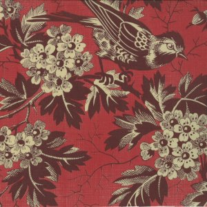 French General Chateau Rouge Fabric - Beaumont - French Red (13620 11)