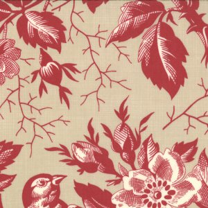 French General Chateau Rouge Fabric - Beaumont - Pearl (13620 13)