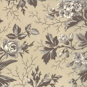 French General Chateau Rouge Fabric - Beaumont - Stone (13620 14)