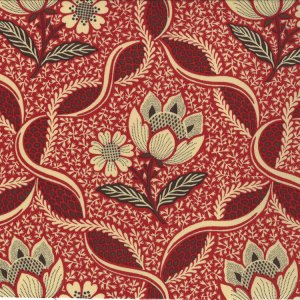 French General Chateau Rouge Fabric - Chatalaine - Roche (13621 12)