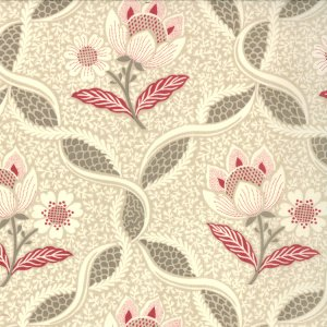 French General Chateau Rouge Fabric - Chatalaine - Pearl (13621 13)