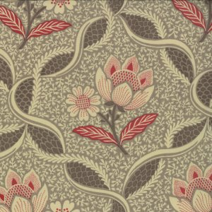 French General Chateau Rouge Fabric - Chatalaine - Stone (13621 16)