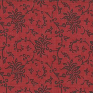 French General Chateau Rouge Fabric - Laurette - Faded Red (13622 11)
