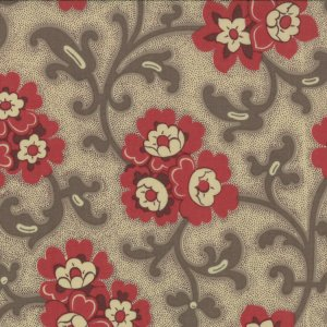 French General Chateau Rouge Fabric - Toussaint - Stone (13623 12)