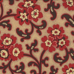 French General Chateau Rouge Fabric - Toussaint - Faded Red (13623 14)