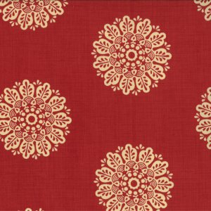 French General Chateau Rouge Fabric - Soleil - Roche (13624 12)