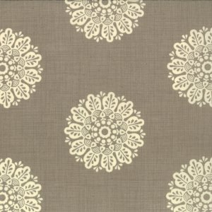 French General Chateau Rouge Fabric - Soleil - Stone (13624 14)
