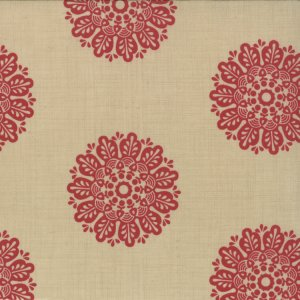 French General Chateau Rouge Fabric - Soleil - Pearl (13624 21)