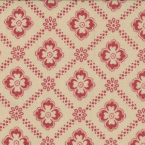 French General Chateau Rouge Fabric - Renaud - Pearl Faded Red (13625 19)