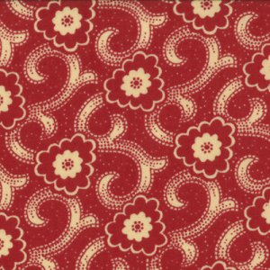 French General Chateau Rouge Fabric - Sylvie - Roche (13627 12)