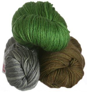 Fyberspates Hand Dyed Grab Bags - Fingering - Mints, Greens