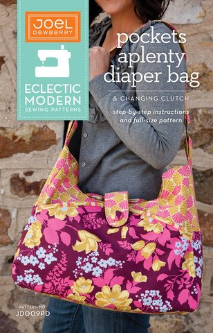 Joel Dewberry Eclectic Modern Sewing Patterns - Pockets Aplenty Diaper Bag & Changing Clutch Pattern