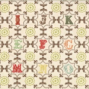 Julie Comstock Odds And Ends Fabric - From A to Z - Vintage (37045 11)