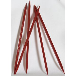 "Kollage Stitch Red Square Double Point Needles - US 3 (3.25mm) - 6"" Needles"