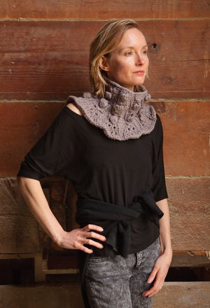 Imperial Yarn Patterns - Lillian's Luxe Collar Pattern