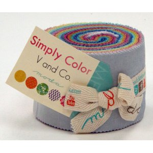 V and Co. Simply Color Precuts Fabric - Junior Jelly Roll