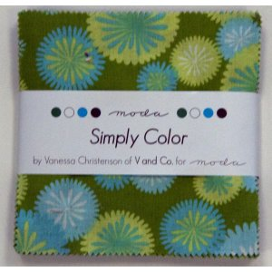 V and Co. Simply Color Precuts Fabric - Charm Pack