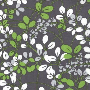 V and Co. Simply Color Fabric - Sprigs - Graphite Grey (10801 13)
