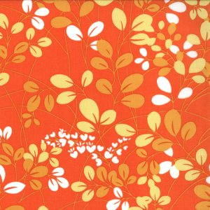 V and Co. Simply Color Fabric - Sprigs - Sweet Tangerine (10801 16)