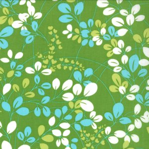 V and Co. Simply Color Fabric - Sprigs - Lime Green (10801 18)