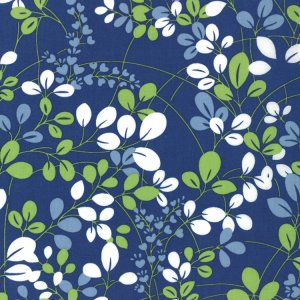 V and Co. Simply Color Fabric - Sprigs - Navy Blue (10801 20)