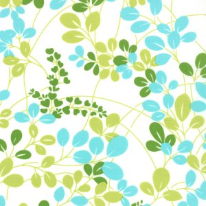 V and Co. Simply Color Fabric - Sprigs White Lime Aqua (10801 21)