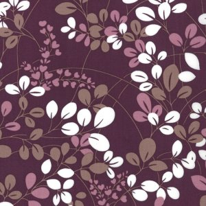 V and Co. Simply Color Fabric - Sprigs - Eggplant (10801 25)