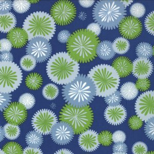 V and Co. Simply Color Fabric - Mod Blossom - Navy Blue (10803 20)