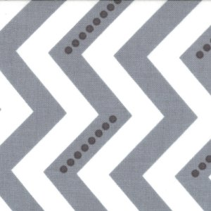 V and Co. Simply Color Fabric - Dotted Zig Zag - White Graphite Grey (10804 13)