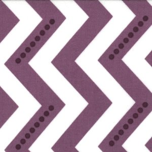 V and Co. Simply Color Fabric - Dotted Zig Zag - White Eggplant (10804 15)