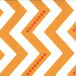 V and Co. Simply Color Fabric - Dotted Zig Zag - White Sweet Tangerine (10804 16)