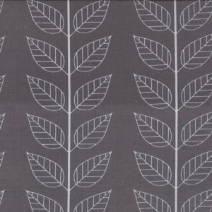 V and Co. Simply Color Fabric - Leafy Stripe - Graphite Grey (10805 13)