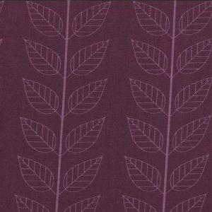 V and Co. Simply Color Fabric - Leafy Stripe - Eggplant (10805 15)