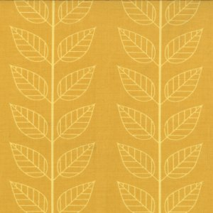 V and Co. Simply Color Fabric - Leafy Stripe - Mustard (10805 17)