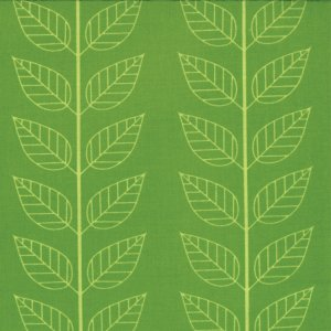 V and Co. Simply Color Fabric - Leafy Stripe - Lime Green (10805 18)