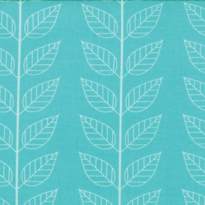 V and Co. Simply Color Fabric - Leafy Stripe - Aquatic Blue (10805 19)