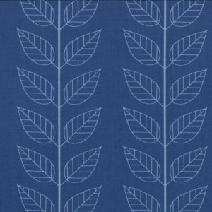 V and Co. Simply Color Fabric - Leafy Stripe - Navy Blue (10805 20)