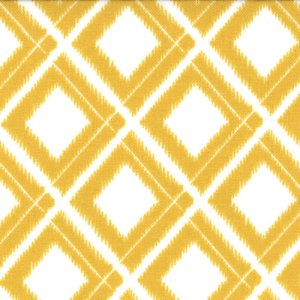 V and Co. Simply Color Fabric - Ikat Diamonds - White Mustard (10806 11)