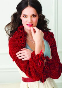 Muench Touch Me Knit Red Roses Shrug Kit - Women's Cardigans