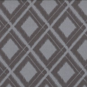 V and Co. Simply Color Fabric - Ikat Diamonds - Graphite Grey (10806 13)