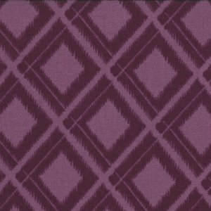 V and Co. Simply Color Fabric - Ikat Diamonds - Eggplant (10806 15)