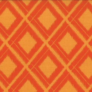 V and Co. Simply Color Fabric - Ikat Diamonds - Sweet Tangerine (10806 16)