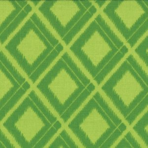 V and Co. Simply Color Fabric - Ikat Diamonds - Lime Green (10806 18)