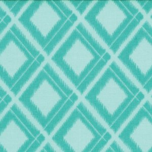 V and Co. Simply Color Fabric - Ikat Diamonds - Aquatic Blue (10806 19)