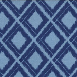 V and Co. Simply Color Fabric - Ikat Diamonds - Navy Blue (10806 20)